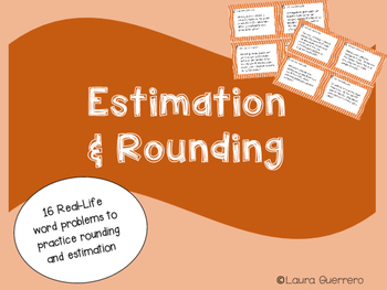 Estimation Task Cards/ Tarjetas de Practica de Estimar