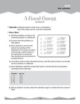 Estimation (Ten-Minute Activities)