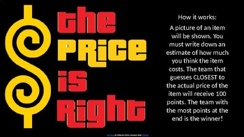 "Estimation ""The Price Is Right"""