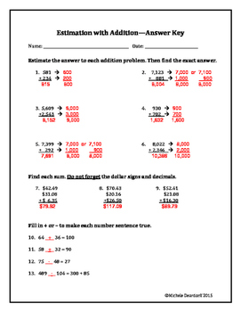 Estimation With Addition: Test Your Skills!