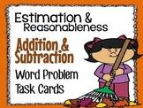 Estimation Word Problem Task Cards (Fall Themed) TEKS 4.4G