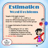 Estimation Word Problems 3.NBT.A.1