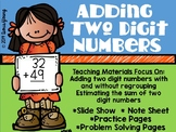 Estimation and Addition of Two Digit Numbers: Teaching Slide Show and Materials