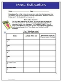 Estimation Activity Worksheet