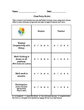 Estimation and Problem Solving Class Party Lesson