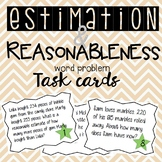Estimation Word Problem Task Cards