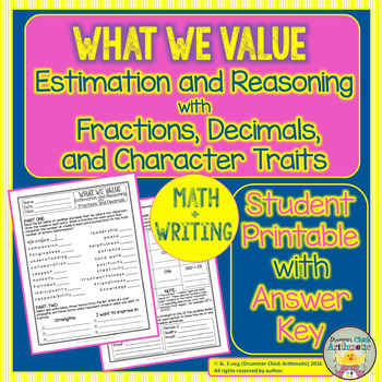 Estimation and Reasoning with Fractions and Decimals