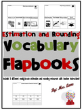Estimation and Rounding Vocabulary Flapbooks