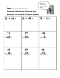 Estimation and Rounding of Addition and Subtraction Quiz (