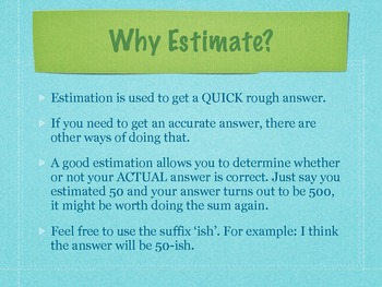 Estimation for Beginners