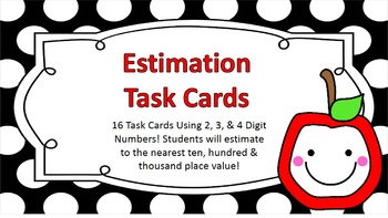Estimation of Sums and Differences Task Cards