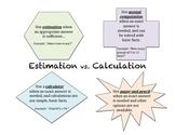 Estimation vs. Computation Handout