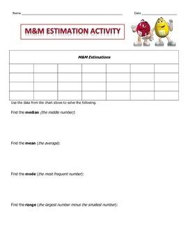 Estimation with m&m's