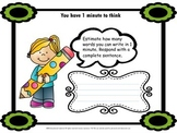 Estimation writing, short activity, bell ringer, closure, mrs