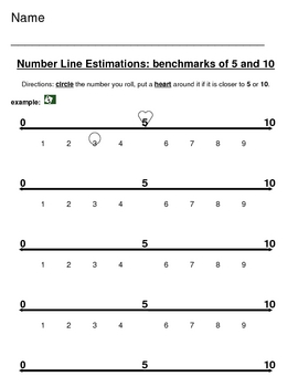 Estimations to 5 and 10: Dice game!