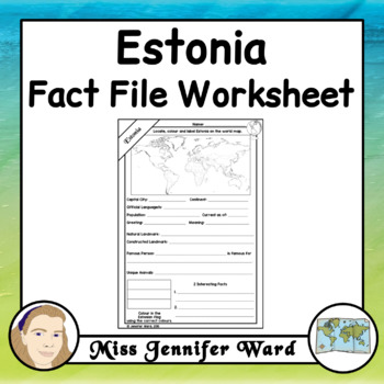 Estonia Fact File Worksheet