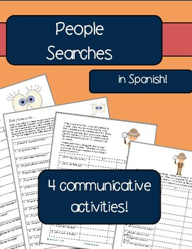 Spanish: People search, Walking questionnaire, Interview: Communicative Activity