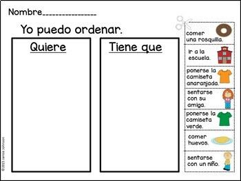 Spanish School Reader & Sorting Page {Estoy de mal humor libro en español}