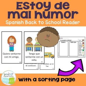 Spanish School Reader & Sorting Page {Estoy de mal humor l