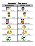 Estar + emotions for Beginning Spanish Students