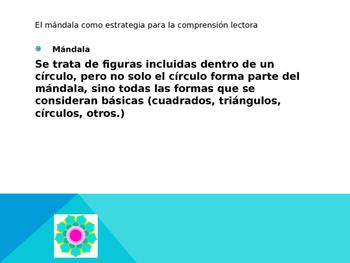 Estrategia para la comprensión lectora (Mandala)