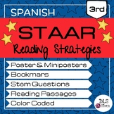 Spanish Reading STAAR Strategies | Posters | Bookmarks | S
