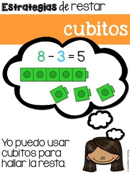 Estrategias de restar – Subtraction Strategies for Bilingual Students – Spanish!