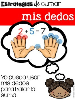 Estrategias de sumar – Addition Strategies for Bilingual Students – Spanish!
