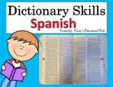 Destreza del diccionario - Dictionary Skills Task Cards -