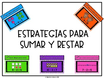 Estrategias para sumar y restar (Addition and subtraction strategies)
