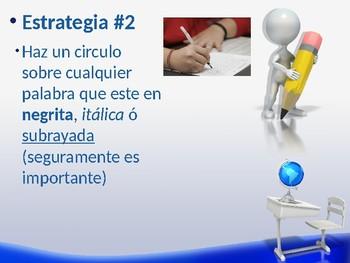 Estrategias para tomar exámenes de lectura - Spanish