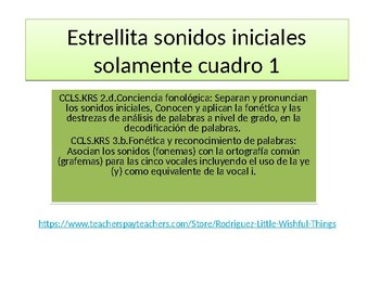 Initial  Phonetic Spanish sounds
