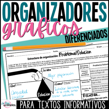 Estructura de textos informativos Non-Fiction Text Structures Spanish Organizers