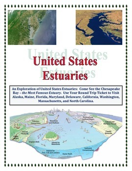Estuary Identification and United States Mapping (Science Geography COMBO)