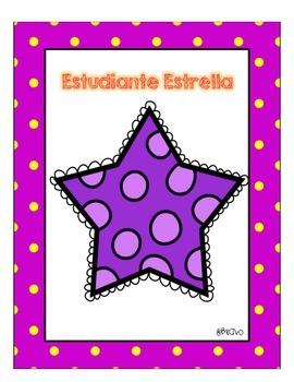 FREE Estudiante Estrella-Star Student