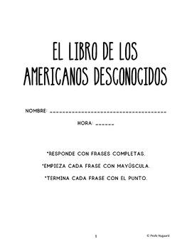 Estudio de la novela: EL LIBRO DE LOS AMERICANOS DESCONOCIDOS