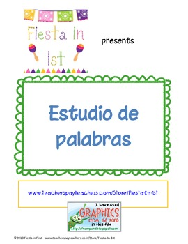 Estudio de palabras / Word Study Packet **FREEBIE**