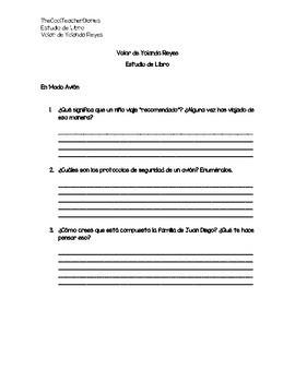 """Estudio del Libro """"Volar"""" de Yolanda Reyes"""