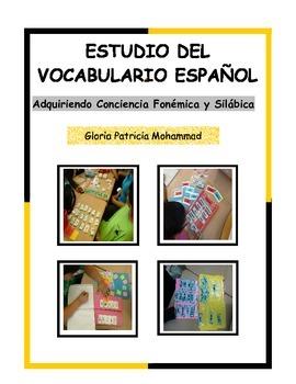 Estudio del vocabulario Español