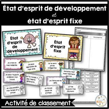 État d'esprit de développement - French Growth Mindset - Activité de classement