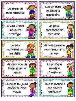 État d'esprit de développement - French Growth Mindset - Ensemble - Bundle