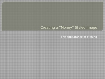 """Etching """"Money Stylized"""" Portraits with Adobe Creative Suite"""