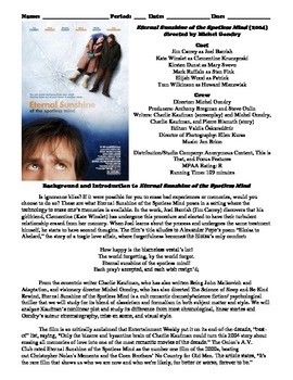 Eternal Sunshine of the Spotless Mind Film (2004) Study Guide Movie Packet