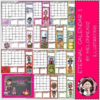 Melonheadz: Eternal calendar Part 1 - Girls - COMBO PACK