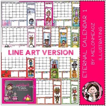 Eternal Calendar Part 1 - Girls - BLACK LINE- by Melonheadz