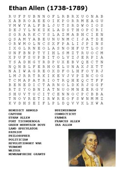 Ethan Allen Word Search