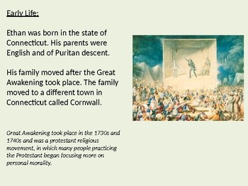 Ethan Allen - life story power point facts  green mountain boys Vermont