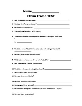 Ethan Frome TEST