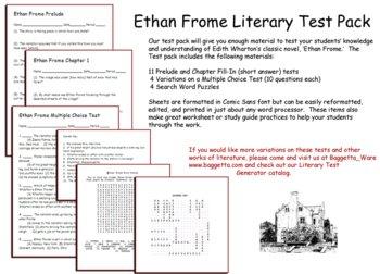 Ethan Frome Test Teaching Resources | Teachers Pay Teachers