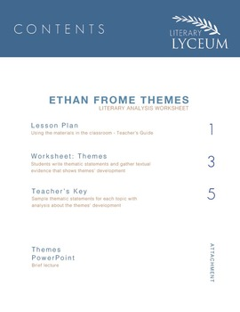 Ethan Frome Themes Lesson